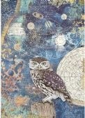 Stamperia A4 Rice Paper - Cosmos Owl - DFSA4389